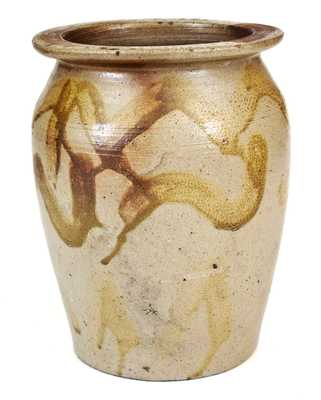 Unusual North Carolina Stoneware Jar with Manganese Decoration