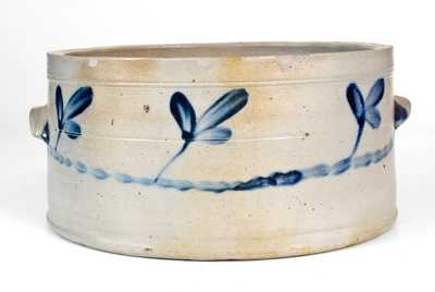 2 Gal. Baltimore, MD Stoneware Cake Crock with Cobalt Decoration