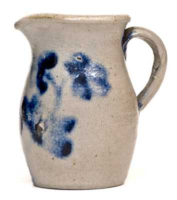 Outstanding Miniature Baltimore Stoneware Pitcher w/ c1870