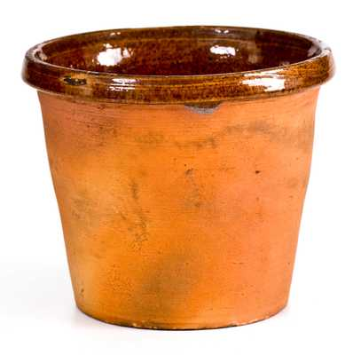 Unusual Small Redware Pot (probably York County, PA),