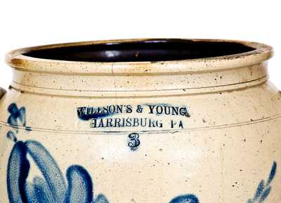 Very Fine WILLSON S & YOUNG / HARRISBURG, PA Stoneware Jar