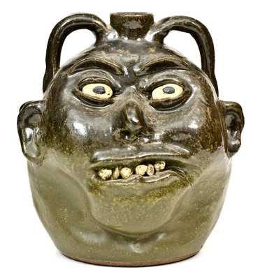 Fine Lanier Meaders (Cleveland, GA) Double Face Jug