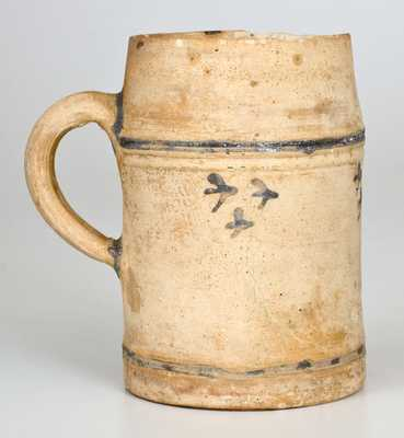 Important Colonial American Stoneware Mug, Manhattan, NY or Cheesequake, NJ