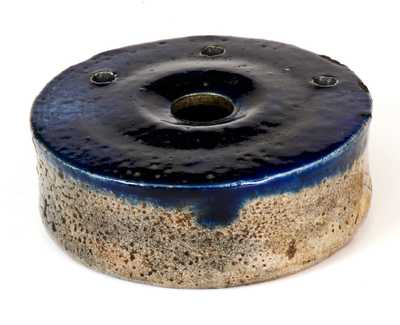 Fine Stoneware Inkwell with Bold Cobalt Top, probably New York State, circa 1825