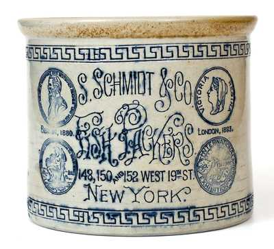 Rare White's Utica, S. Schmidt & Co. Fish Packers (New York) Stoneware Crock