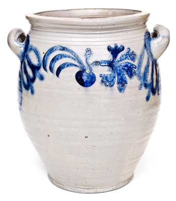Extremely Rare and Important Morgan Pottery, Cheesequake, NJ, 18th Century Stoneware Jar