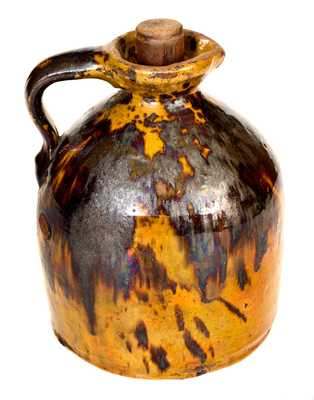 Fine Redware Syrup Jug, PA or New England origin