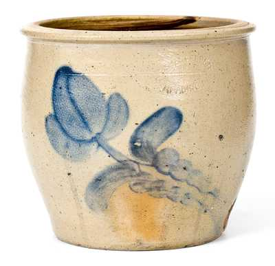 D.P. SHENFELDER / READING, PA Stoneware Cream Jar with Floral Decoration