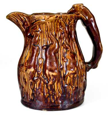 Extremely Rare ABRAHAM MILLER, Philadelphia, PA Rockingham Ware Pitcher
