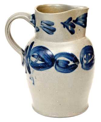 Three-Quart Baltimore, MD Stoneware Pitcher with Bold Cobalt Decoration, circa 1830
