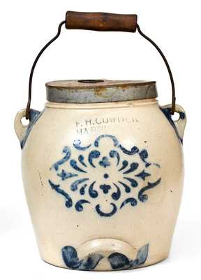 F. H. COWDEN / HARRISBURG, PA Stoneware Batter Pail with Stenciled Decoration