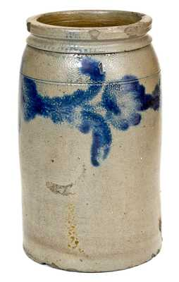 H. C. SMITH / ALEXA., DC Stoneware Jar with Floral Decoration