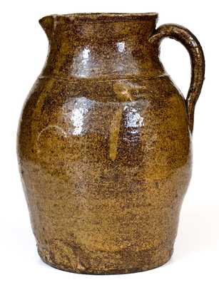 Attrib. B.F. Landrum (Edgefield, SC) Stoneware Pitcher with Alkaline Glaze