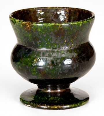 Small Green-Glazed George Ohr Pottery Vessel
