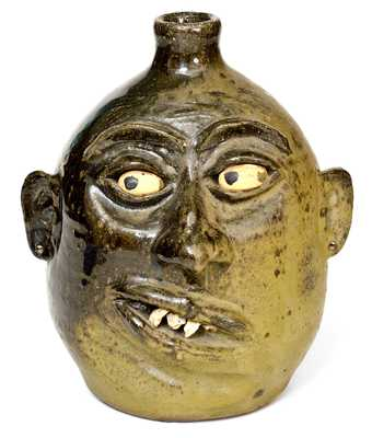 Leader Meaders Face Jug w/ Rock Teeth