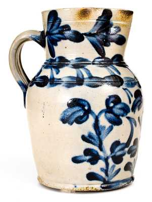Outstanding att. Richard C. Remmey (Philadelphia) Stoneware Pitcher w/ Elaborate Decoration