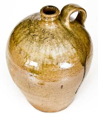 Very Rare and Important Early Dated Jug by the Enslaved Potter, Dave (Edgefield District, SC)