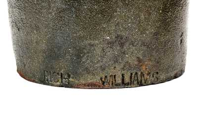 Extremely Rare RICH WILLIAMS (African-American Potter) South Carolina Stoneware Jar