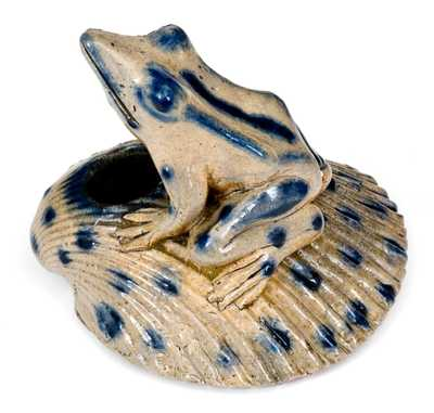 Anna Pottery / 1882 Stoneware Frog Inkwell