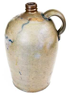Extremely Rare Two-Gallon Stoneware Jug with Richmond, VA Advertising, attributed to Stephen B. Sweeney, Henrico County, VA, circa 1838-1863.