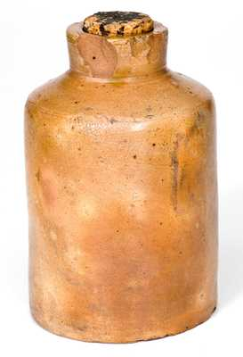 Extremely Rare and Important Thomas Downing (New York City) Stoneware Oyster Jar