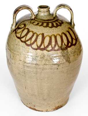 Scarce Six-Gallon att. Thomas Chandler and John Trapp, Edgefield, SC Double-Handled Stoneware Jug