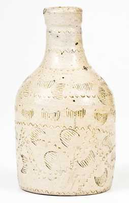 Exceptional Small-Sized Stoneware Bottle att. Frederick Carpenter, Charlestown, MA, early 19th century