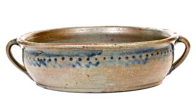 Stoneware Handled Bowl, possibly Thomas Amoss, Henrico County, VA, c1820