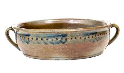 Very Unusual Stoneware Handled Bowl, possibly Thomas Amoss, Henrico County, Virginia, circa 1820