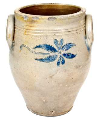 Probably Peter Cross (Hartford, CT) Stoneware Jar w/ Fine Incised Decoration