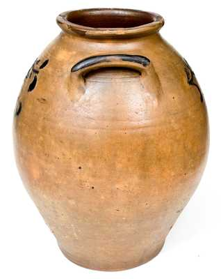 Fine 4 Gal. C. CROLIUS / NEW-YORK Stoneware Jar w/ Incised and Brushed Cobalt Decoration