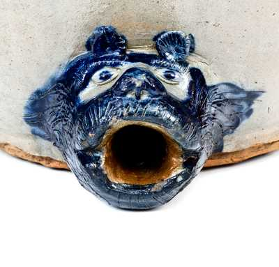 Extremely Rare SAM L. I. IRVINE / NEWVILLE, PA Monumental Stoneware Water Cooler with Bear s Head Spout