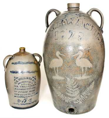 Important and Unique Thirty-Gallon Western PA Stoneware Jug-Form Water Cooler