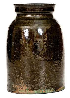 Very Rare RICH WILLIAMS (Greenville County, SC) Stoneware Jar, African-American Potter