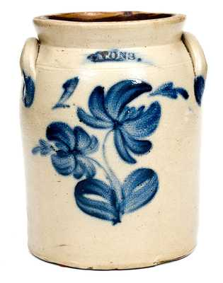 1 Gal. LYONS Stoneware Jar with Vibrant Floral Decoration