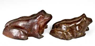 Lot of Two: Sewertile Frogs, one with Impressed Name