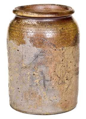 Early Southern Stoneware Masterpiece, Baltimore Jar w/