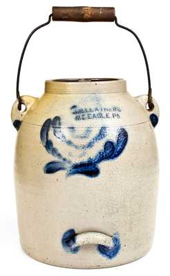 J.B. LEATHERS / MT. EAGLE, PA Stoneware Batter Pail