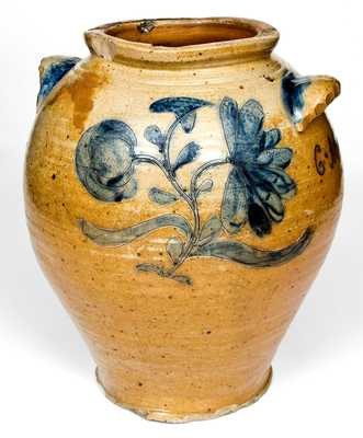 Important Large-Sized Manhattan Area Stoneware Jar,