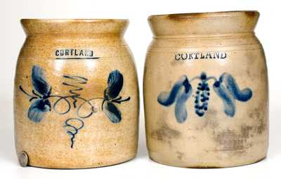 Lot of Two: Cortland, New York Stoneware Jars