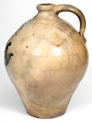 Unusual BUFFALO, NY Stoneware Jug w/ Eight-Line Impressed Advertising