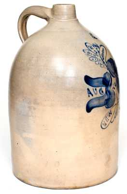 Important O.H. Smith (Flemington, NJ) 1889 Jug Commemorating Opening of the Pottery