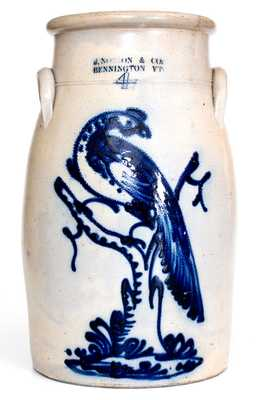 Exceptional J. NORTON & CO. / BENNINGTON, VT Stoneware Pheasant Churn