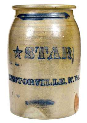 STAR / NESTORVILLE, W.VA (West Virginia) Stoneware Jar