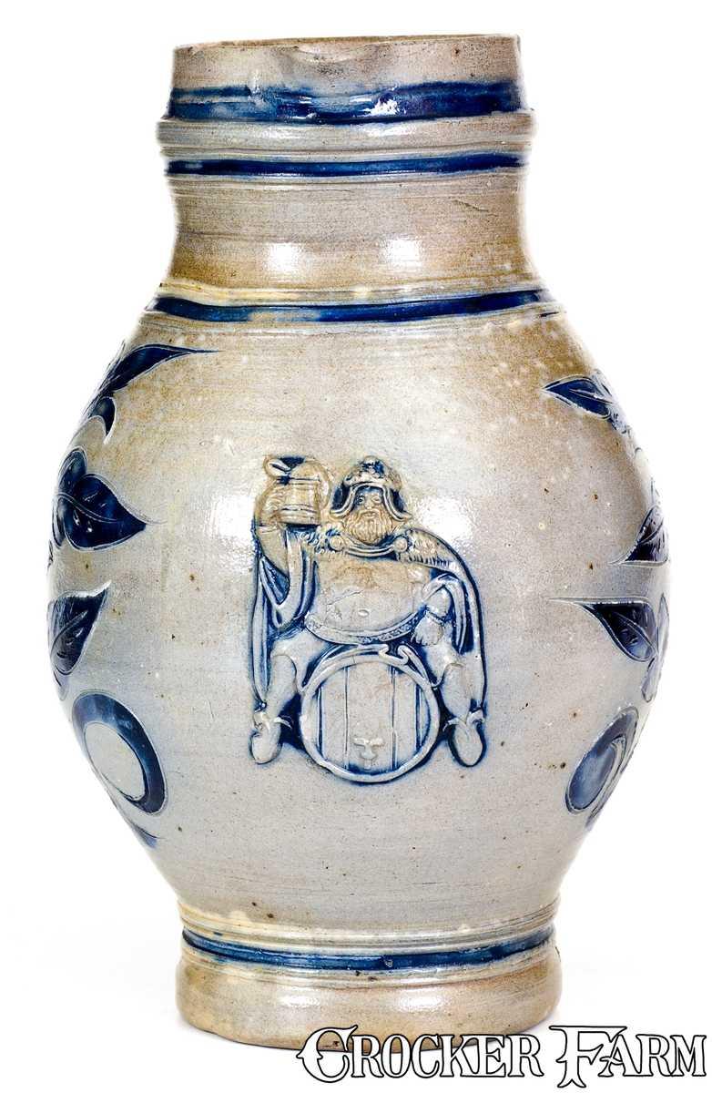 Wingender Pottery Haddonfield Nj Stoneware Pitcher W