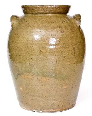 3 Gal. Stoneware Jar att. B. F. Landrum, Edgefield District, SC, early 19th century