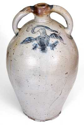 Exceptional D. GOODALE / HARTFORD Monumental Stoneware Jug w/ Incised Federal Eagle