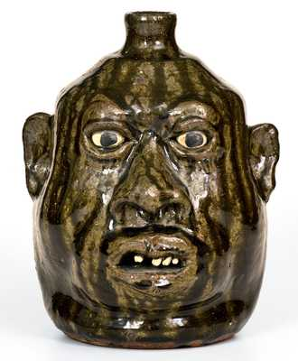 Lanier Meaders Face Jug, circa 1980