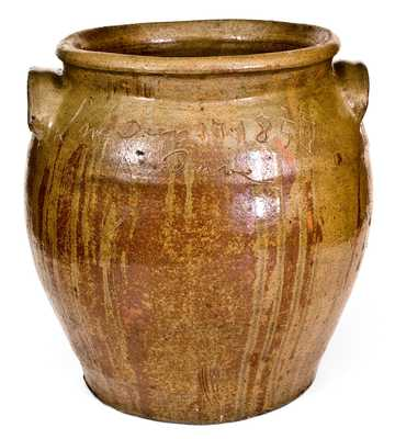 Outstanding Stoneware Jar Inscribed