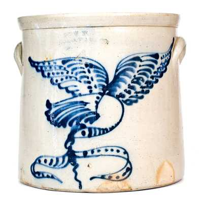 Very Rare NEW YORK / STONEWARE CO. / FORT EDWARD, N.Y. Stoneware Eagle Crock